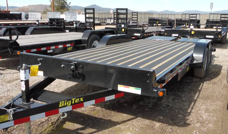 83″ x 20′ Big Tex Equipment Trailer, Mega Ramps, Blackwood Deck, 10K