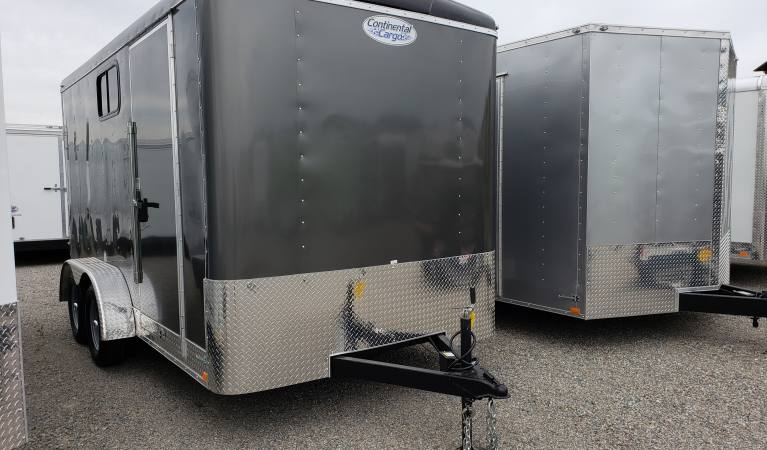 7 x 14 Tailwind with Ramp, 6″ Extra Height, Windows, 7K, 110 Package (Charcoal)