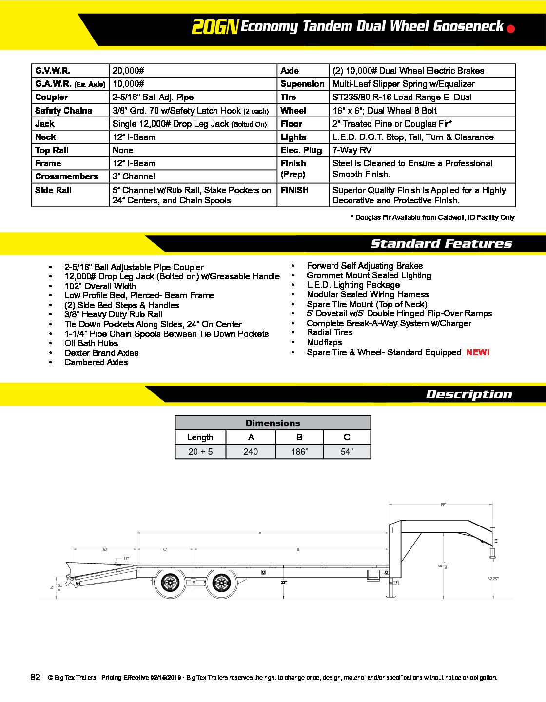 Big Tex Wiring Harness Schematics Diagrams Gooseneck 20 U2032 5 Dove 20k Fox Trailers Rh Foxtrailers Com 22gn Diagram Trailer